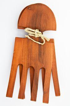 Free Mahogany Salad Forks Stock Photography - 9063602