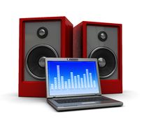 Free Multimedia Laptop Royalty Free Stock Photo - 9063705