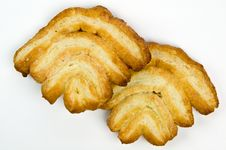 Crispy Puffed Pastry Cookies Royalty Free Stock Images