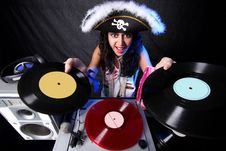 Free DJ In Action Royalty Free Stock Photography - 9064057
