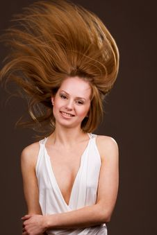 Free Flying Hair Royalty Free Stock Image - 9064086