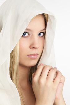 Free Women Prayer On White Background Royalty Free Stock Photo - 9065375