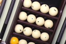 Free Billiard Balls And Cue Stock Photography - 9066472