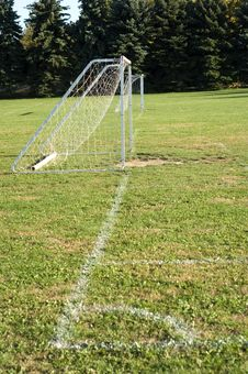 Free Soccer Goal Royalty Free Stock Photos - 9067128