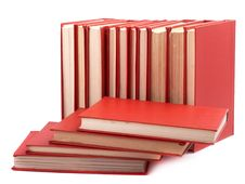 Free Pile Of Red Books Royalty Free Stock Photos - 9067318