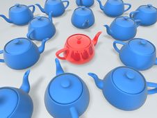 Free Unique Red Teapot Stock Photography - 9067422