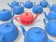 Free Unique Red Teapot Stock Images - 9067424