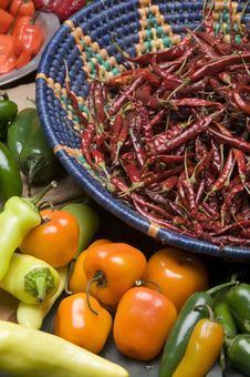 Free Chili Peppers Royalty Free Stock Photos - 9067668