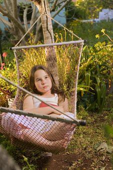Girl In Hammock Dream Stock Photography