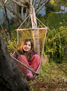 Free Girl In Hammock Royalty Free Stock Photos - 9068308