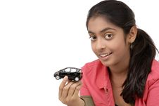 Free Young Girl Holding Car Royalty Free Stock Images - 9068589