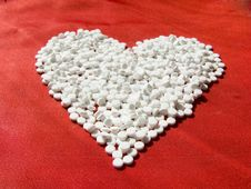 Heart From Pills Stock Image