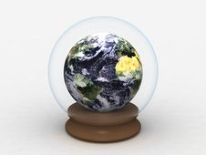Earth In A Glass Globe Stock Image
