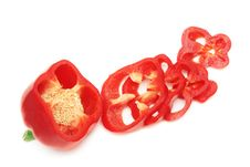 Free Sliced Red Sweet Pepper. Stock Photography - 9069502