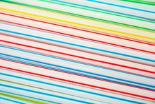 Plastic Drinking Straws . Royalty Free Stock Images