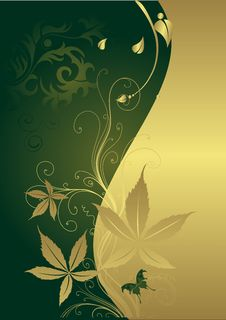 Free The Butterfly On A Gold Background Stock Photography - 9069832