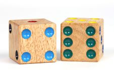 Free Wooden Dice Royalty Free Stock Photo - 9069945
