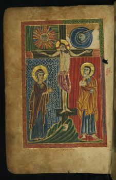 Free Gospel Book, Crucifixion, Walters Manuscript W.540, Fol. 11v Stock Images - 90611864
