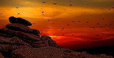 Free Rock Formation With Sunset Photo Stock Photography - 90612442