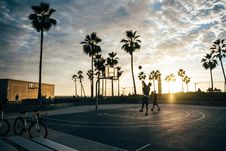 Free Basketball Court At Sunset Stock Image - 90613931