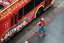 Free Spiderman On Streets Royalty Free Stock Photo - 90614635
