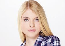 Free Portrait Of Beautiful Blond Girl Stock Photo - 90614770