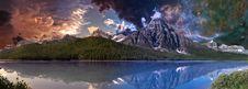 Free Mountain Landscape At Dawn Stock Photo - 90659930