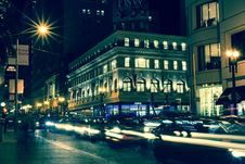 Free Traffic On Street At Night Stock Photos - 90660603