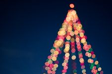 Free Bokeh Christmas Lights Stock Photography - 90660982