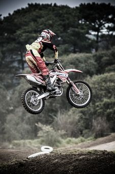 Free Biker Leaping Course Stock Image - 90661281