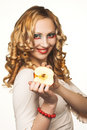 Free Young Blonde With Fruits Royalty Free Stock Image - 9075466