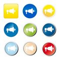 Free Megaphone Web Button Stock Image - 9079911