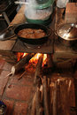 Free Cooking Over Open Fire Stock Image - 9079981