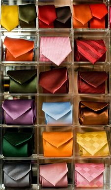 Neckties Display Stock Images