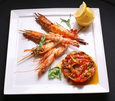 Free Shrimps Royalty Free Stock Photography - 9070647