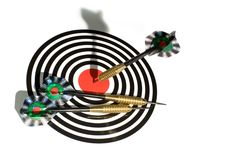 Free Target With Arrows On White Royalty Free Stock Photos - 9070758