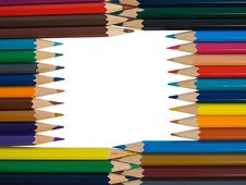 Free Assortment Of Colored Pencils Royalty Free Stock Photos - 9071058