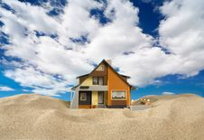 Free House On Sand. Royalty Free Stock Images - 9071259
