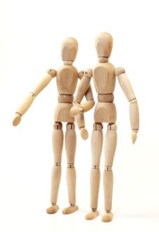 Free Wooden Figurine Royalty Free Stock Image - 9071376
