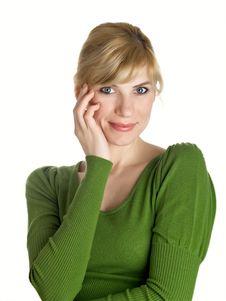 Free Beautiful Girl In Green Stock Image - 9071431