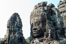 Free Bayon Temple Tower Faces 3 Stock Image - 9073011