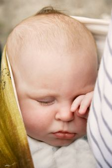 Free Sleeping Baby Close Up Royalty Free Stock Photos - 9073188