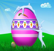 Free Easter Bunnies Stock Photography - 9074112
