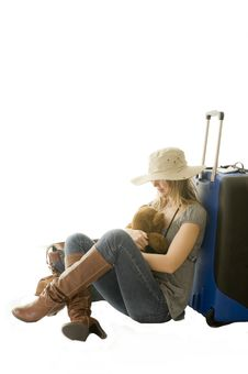 Woman Going On Vacation Royalty Free Stock Photography