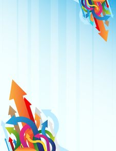 Free Blue Background And Colorful Arrows Stock Images - 9074354