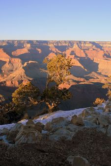 Free Grand Canyon In Winter Royalty Free Stock Image - 9074576