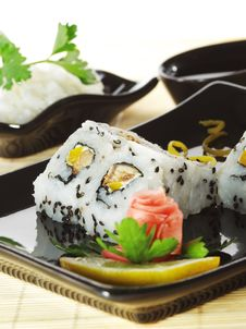 Japanese Cuisine - Sushi Royalty Free Stock Photography