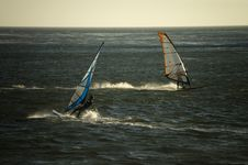 Free Windsurfers Cross Royalty Free Stock Images - 9075679