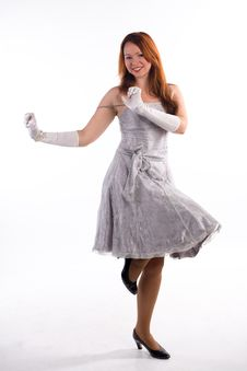 Free Young Girl And White Gloves Stock Photos - 9075773