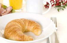 Free Breakfast Croissant Stock Photography - 9076602